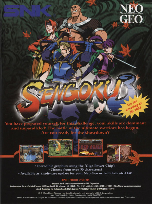 Sengoku Legends 2001