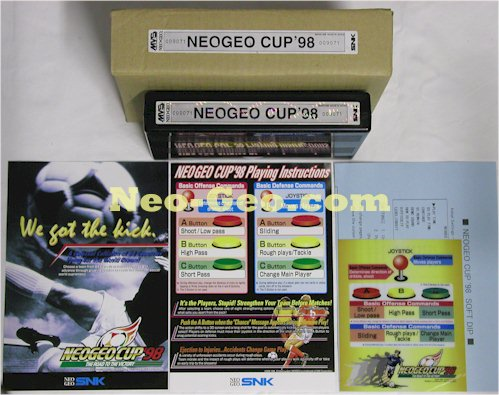 Neo*Geo Cup 98 Tecmo World Cup Soccer Only at the World Cup, Neo-Geo